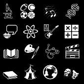 Conjunto de ícones de categoria de assunto