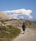 Hking Towards Mt. Adams