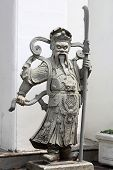 picture of qin dynasty  - Chinese god statue at west door wat pho - JPG