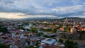 Bird Eye View Panorama. Tbilisi. Georgia.