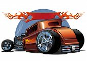 Vektor Cartoon hotrod
