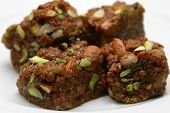 stock photo of halwa  - Sticky Chewy soft and nutty - JPG