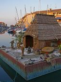 Nautical Nativity scene in Grado, Italy