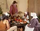 Thanksgiving Pilgrim Family