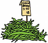 pic of green bean  - An image of green beans art object - JPG