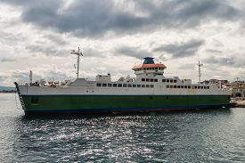 pic of messina  - Ferryboat in messina from Italy to Sicily Strait of Sicily - JPG