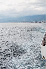 foto of messina  - Ferryboat in messina from Italy to Sicily Strait of Sicily - JPG