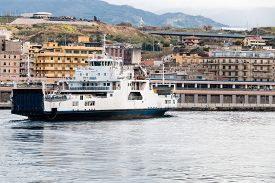 image of messina  - Ferryboat in messina from Italy to Sicily Strait of Sicily - JPG