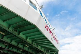 stock photo of messina  - Ferryboat in messina from Italy to Sicily Strait of Sicily - JPG