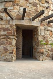 image of underpass  - This is an underpass in a old stone tower - JPG