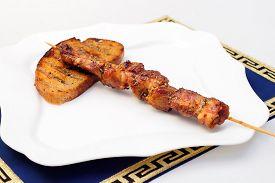 foto of souvlaki  - Souvlaki or kebab - JPG