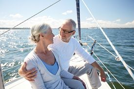 stock photo of retirement age  - sailing - JPG