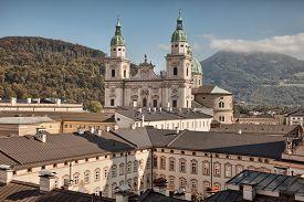 pic of dom  - Salzburg cathedral Salzburger Dom at Domplatz Salzburg Land Austria - JPG