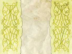 stock photo of celtic  - Old paper with celtic pattern  - JPG