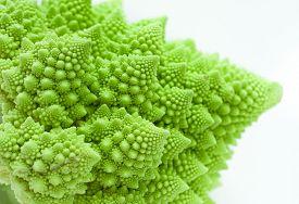 foto of romanesco  - Fresh green cabbage romanesco - JPG