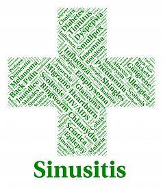 stock photo of sinuses  - Sinusitis Illness Representing Poor Health And Sickness - JPG