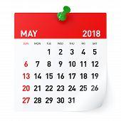 May 2018 - Calendar poster