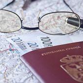 Passport, Eyeglasses And Money
