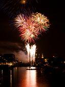 Fireworks over harbour