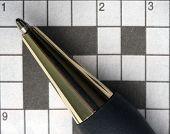 Macro Pen And Crossword Puzzle