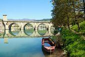 Old,Famous bridge on the Drina in Visegrad , Bosnia