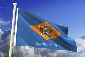 Delaware Flag (Clipping Path)