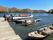 Small Port Of Rinca Island