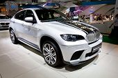 Moscow, Russia - August 25:  Grey Car Bmw X6 At Moscow International Exhibition Interauto On August