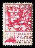 Bullfighting Vintage Postage Stamp