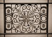 ornamental railings of the bridge of  iron