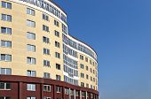 Belorussian Construction Site Of A New High Comfort Building And Blue Sky  Minsk Belarus