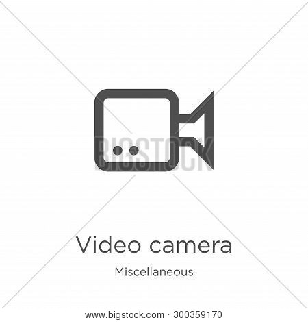 poster of Video Camera Icon Isolated On White Background From Miscellaneous Collection. Video Camera Icon Tren