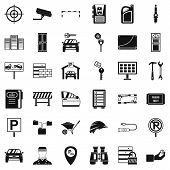 Privacy Icons Set. Simple Style Of 36 Privacy Icons For Web Isolated On White Background poster