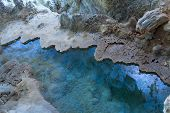 stock photo of carlsbad caverns  - Water pool in Carlsbad Caverns - JPG