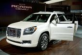 CHICAGO - FEB 12: The 2013 GMC Acadia Denali on display at the 2012 Chicago Auto Show. February 12,