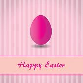 Pink background with stripes and pink easter egg
