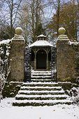 Gazebo Snow Garden