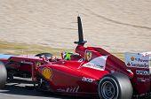 Felipe In His Ferrari - Jerez F1 Test 2012