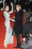 BERLIN - FEB 13: Angelina Jolie; Brad Pitt at the Cinema For Peace Gala during day five of the 62nd International Film Festival on February 13, 2012 in Berlin, Germany