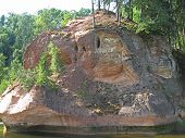 Zvarta rock near Amata river in Latvia