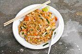 Padthai Noodle On Plastic Dish