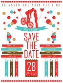 save the date card letterpress