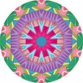 colorful geometric mandala