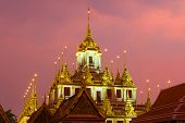 Top Of The Old Chedi Loha Prasat Of The Buddhist Temple Wat Ratchanatdaram Varavihara Close-up Again poster
