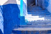 Medina Of Chefchaouen, Morocco. Chefchaouen Or Chaouen Is A City In Northwest Morocco. It Is The Chi poster