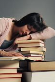 Student Fell Asleep On Stack Of Book, Similar Pictures On My Portfolio