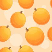 Whole Melon Pattern. Cartoon Illustration Of Whole Melon Pattern For Web Design poster