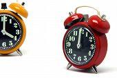 Orange And Red Clock