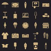 Tourist Shopping Icons Set. Simple Set Of 25 Tourist Shopping Vector Icons For Web For Any Design poster