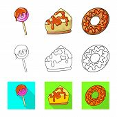 Vector Design Of Confectionery And Culinary Icon. Set Of Confectionery And Product Stock Vector Illu poster